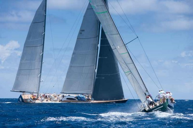Sailing yacht Sojana and Moneypenny (Photo by Christophe Launay  Les Voiles de Saint-Barth)