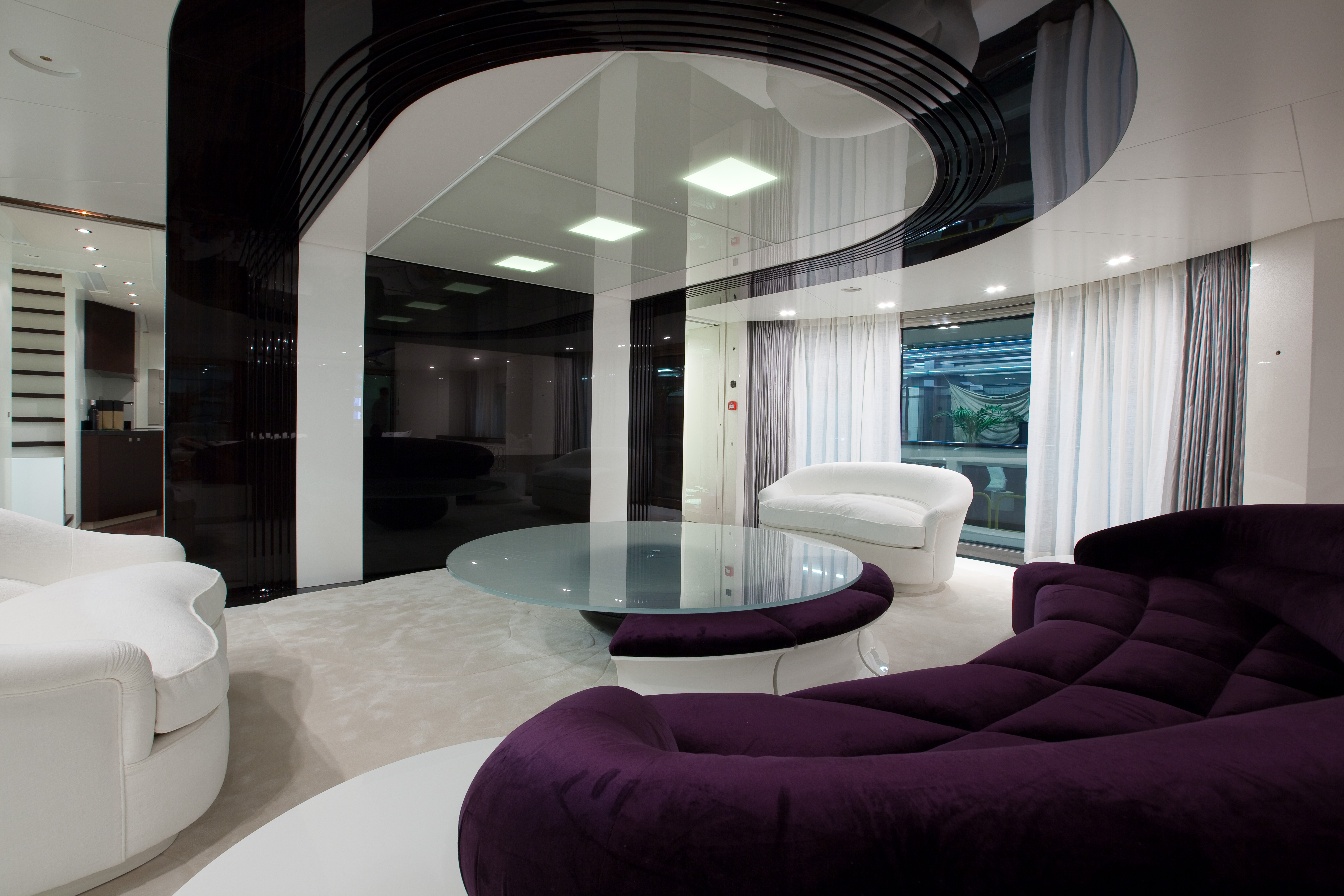 Superyacht Quinta Essentia Main Salon - Photo credit to Emilio Bianchi ...