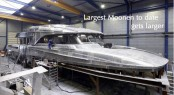 The superstructure of the 42 metre Moonen 137