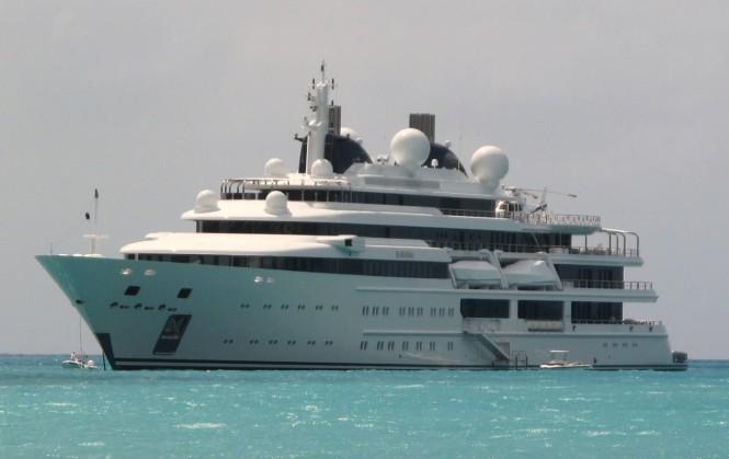 Yacht KATARA by Lurssen in St Martin, Caribbean