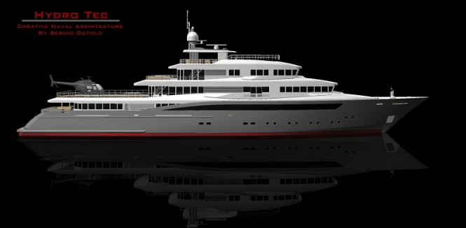 71m HydroTec Global Explorer motor yacht in build at Palumbo Shipyard - A superyacht design by Hydro Tec
