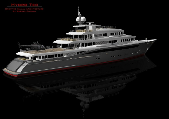HydroTec Global Explorer motor yacht in build at Palumbo Shipyard - A superyacht design by Hydro Tec 
