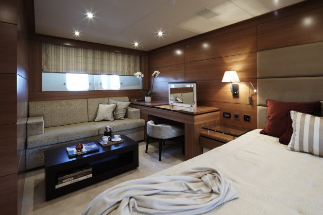 Couach 3700 Yacht Arion Master Cabin by Ken Freivokh