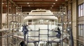 the Moonen 97 Yacht Under Construction