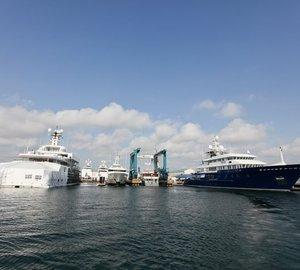 Motor yacht Polar Star and Yacht TV refinished at Rybovich Superyacht Marina