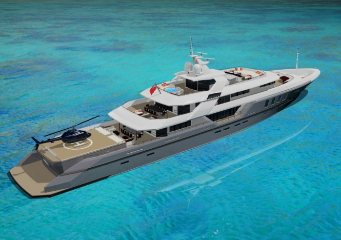 Ruea 75m Motor yacht – A Design Unlimited and BMT Nigel Gee Superyacht Design