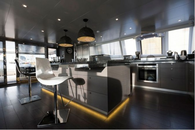 Sailing Yacht Cartouche Interior - A Blue Coast 95 Catamaran - Photo Credit Gilles Martin-Raget