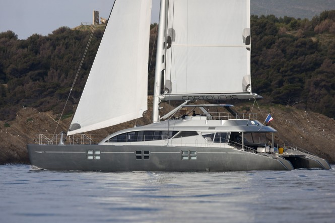 Luxury Yacht Cartouche - A Blue Coast 95 Catamaran - Photo Credit Gilles Martin-Raget 