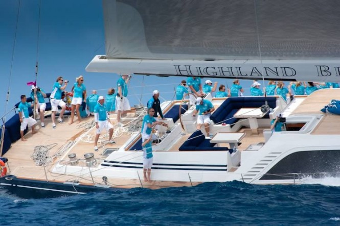 Sailing Yacht Highland Breeze at Les Voiles de Saint-Barth 2011 - Credit Christophe Jouany - Les Voiles de Saint-Barth