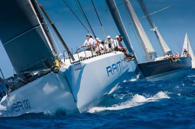 Sailing Yacht Rambler at - Les Voiles de St. Barth 2011- Photo Credit Christophe Jouany - Les Voiles de Saint-Barth