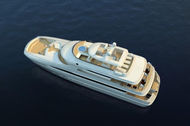 33m Curvelle Quaranta Motor Yacht - Image Courtesy Curvelle Yachts