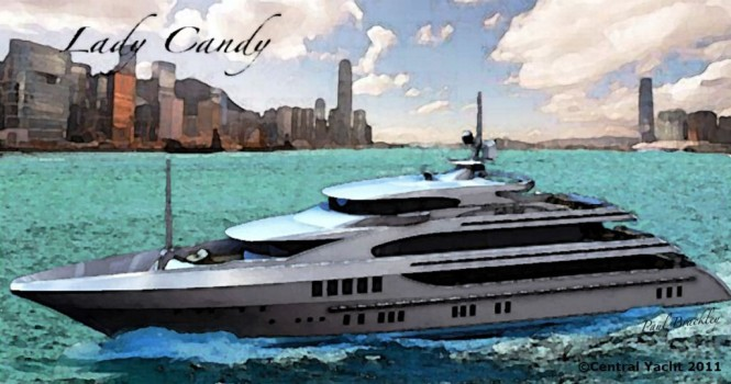 55m Benetti Motor Yacht LADY CANDY. The layout of the project FB260 Benetti ...