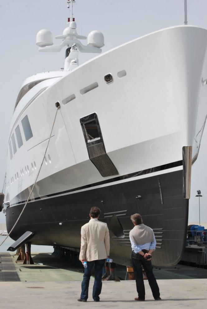 65 metre Benetti yacht Nataly at her Launch (ex FB252)