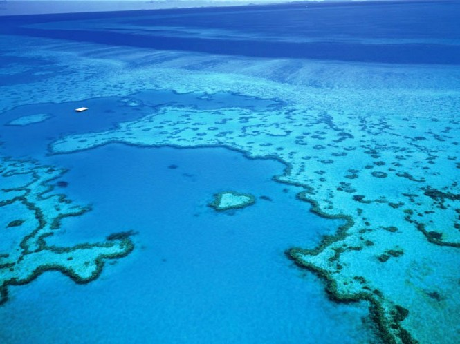 Aerial view of Heart Reef