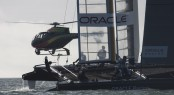 Amercia's Cup Helicopter and Catamaran in Auckland