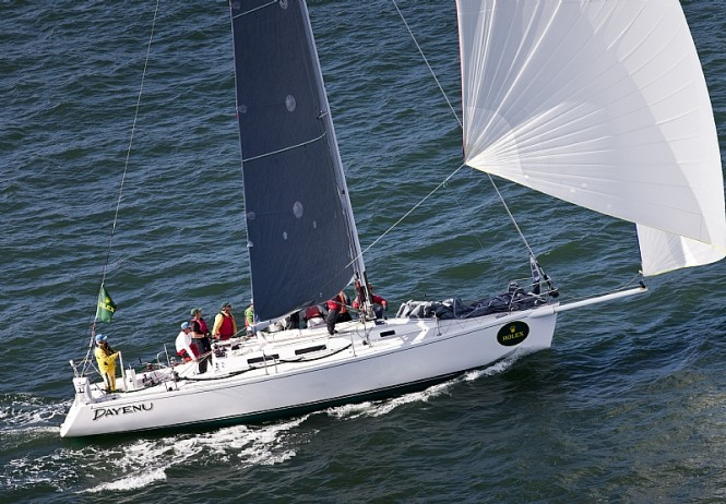 Sailing yacht DAYENU J 120 class winner -Rolex Big Boat Series San Francisco ...