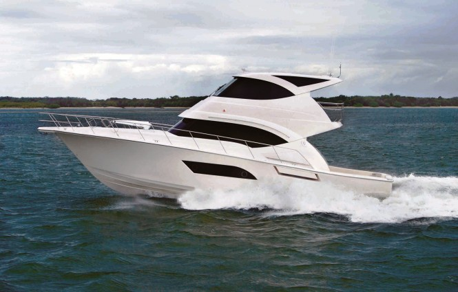 First glimpse of the striking new Riviera 53 Enclosed Flybridge motor yacht ...