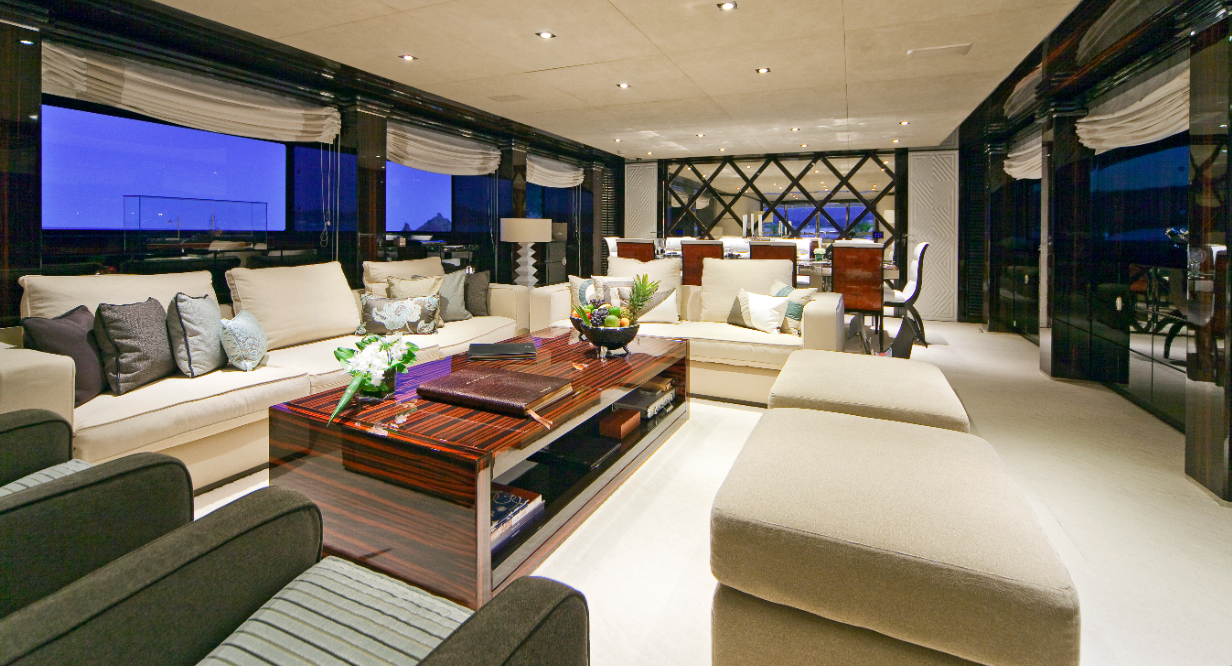 Luxury Charter Yacht MANIFIQ Main Salon - Interior by Luca Dini Design ...