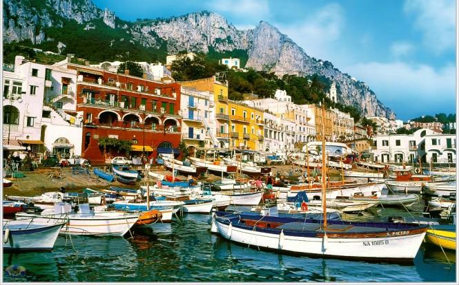Marina Grande on Capri Italy