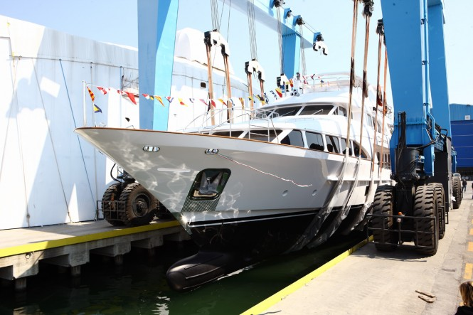 Motor yacht Domani, a new Benetti Classic 121' was launched by Benetti in ...