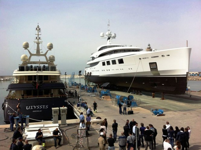 Motor yachts Nataly and Ulysses at the Benetti yard in Italy