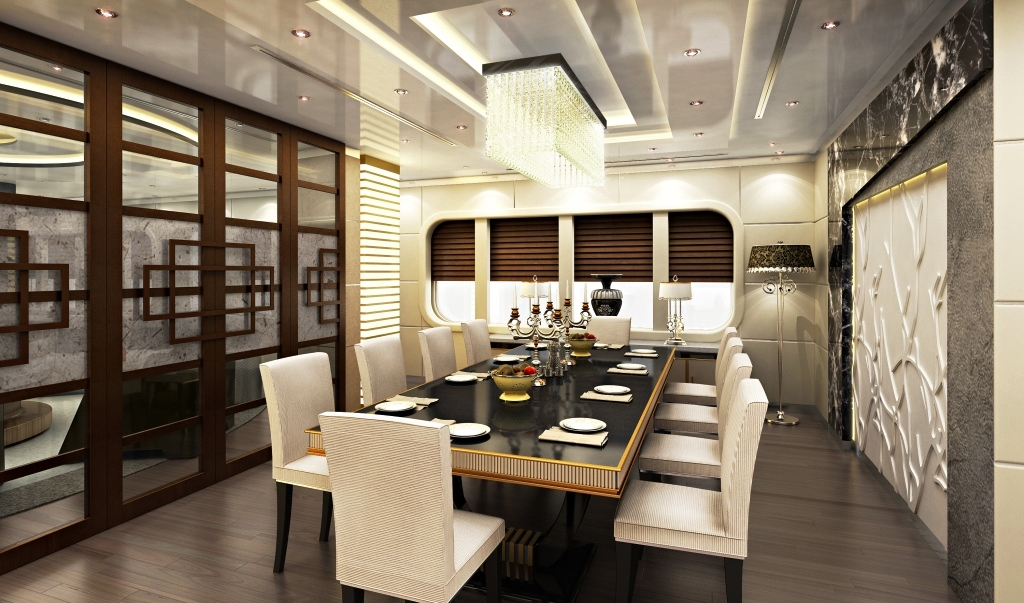 Natural evolution yacht design concept the dining room for Kitchen dining hall design