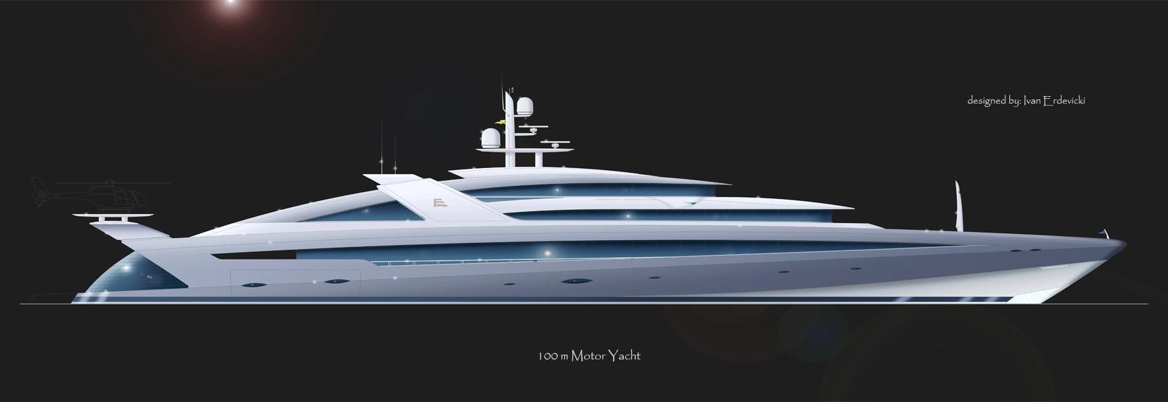 Superyachten concept  New 100 metre Superyacht Concept yacht design by – Erdevicki ...