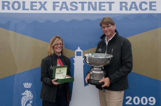 Niklas and Catherine Zennstrom, RAN, overall winner 2009 Credit Rolex  Daniel Forster