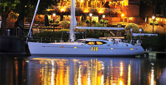 Reaction to the striking, new design of the Oyster 625 yacht which has a ...