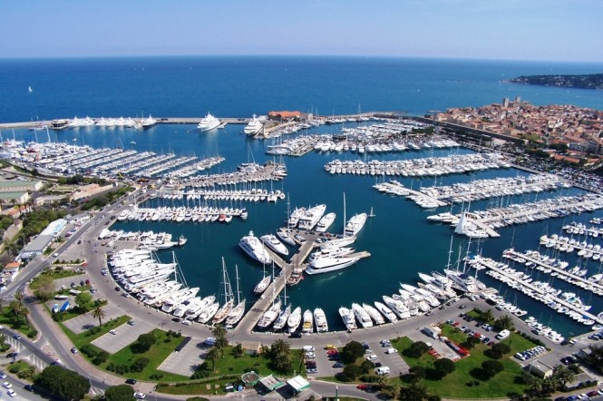 Port Vauban Antibes France - One of the largest superyacht Marinas in the world