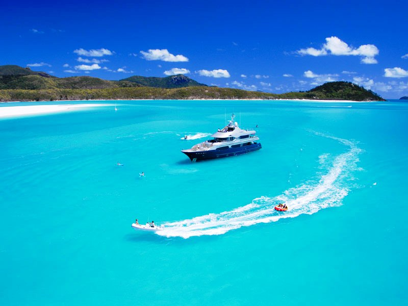 Princess Iluka at Hill Inlet - Anchored Superyacht