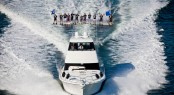Riviera&acirc;s 61 Series II Flybridge motor yacht launched and delivered with 12 water skiers in tow