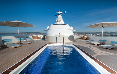Superyacht Reborn - The Deck Swiming Pool