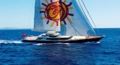 Superyacht TIARA under sail