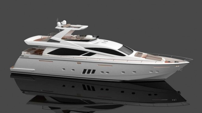 The 24 m Daewoo motor yacht designed by Andrea Borzelli Yacht Design - profile