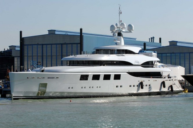 The 65 m Benetti Superyacht Nataly just after her Launch in Italy