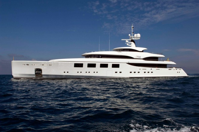 The 65 metre superyacht NATALY at her sea trials by Benetti