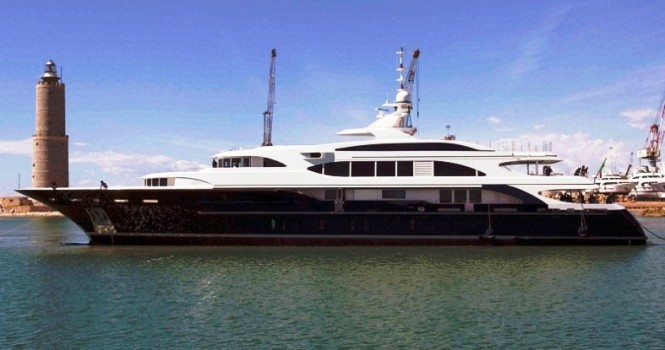 The Benetti Yacht Lyana ex Sofia FB248 at her launch in Italy 2011