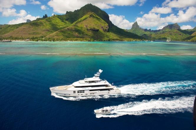 The Yacht BIG FISH in Tahiti