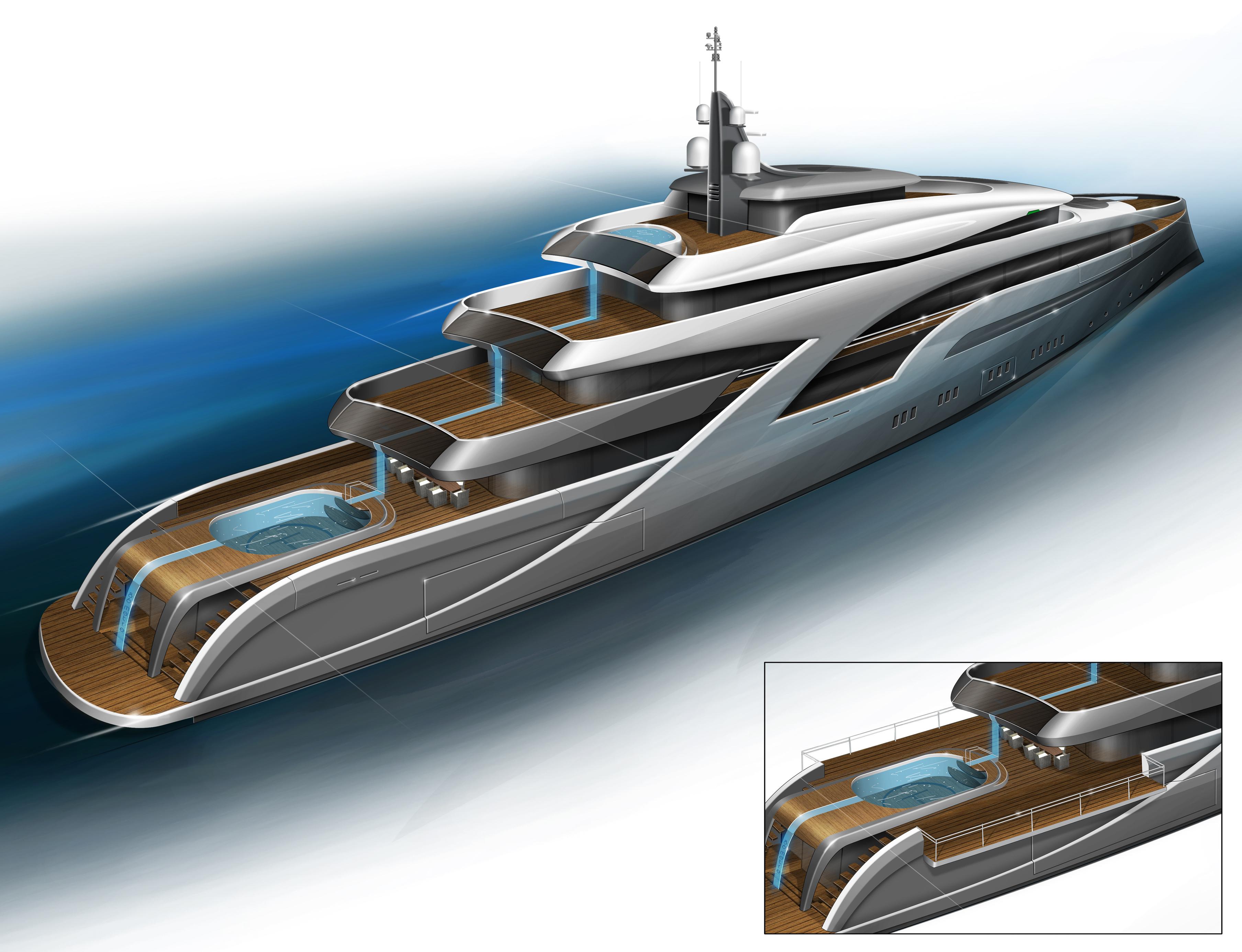 Castro Yacht New 90m Tony Castro Yacht