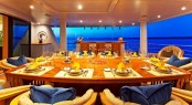 Dining on an Amels 212 yacht