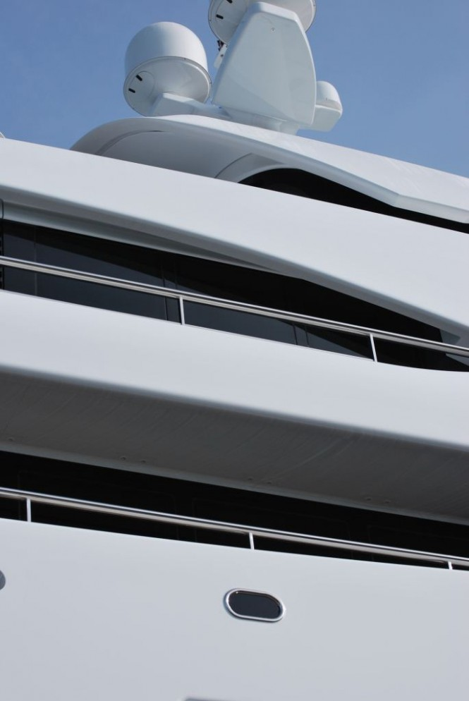 Yacht Nataly exterior design detail - By Redman Whiteley Dixon