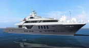 The 75 m superyacht by Ruea Yachts and Design Unlimited and naval architects
