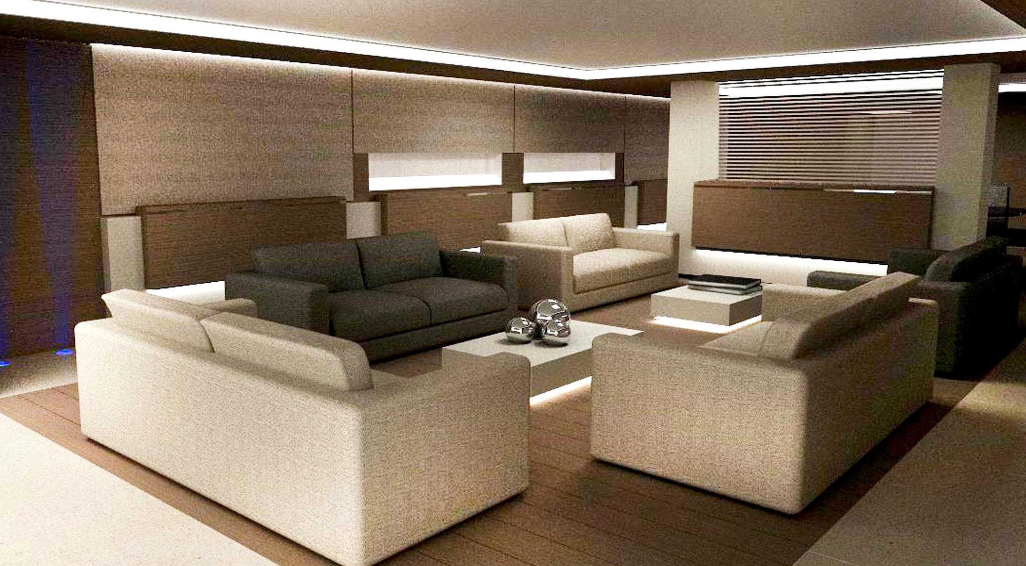45 Nadara yacht OURANOS Salon
