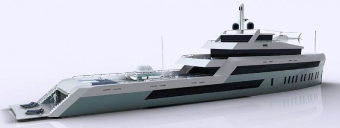 60 metre Open Water explorer type luxury motor yacht design