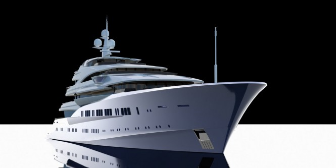 Adriel Design - Project Lumen Yacht by oceAnco - 90m -Bow straight on