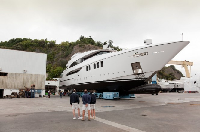 Alexander Again yacht built and launched by Mondo Marine in June 2011