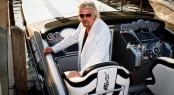 Cigarette Racing & Sir Richard Branson stage 'Miami Vice' scene to celebrate the 25th Anniversary of Virgin Atlantic Airways London-Miami route - Credit Cigarette Racing