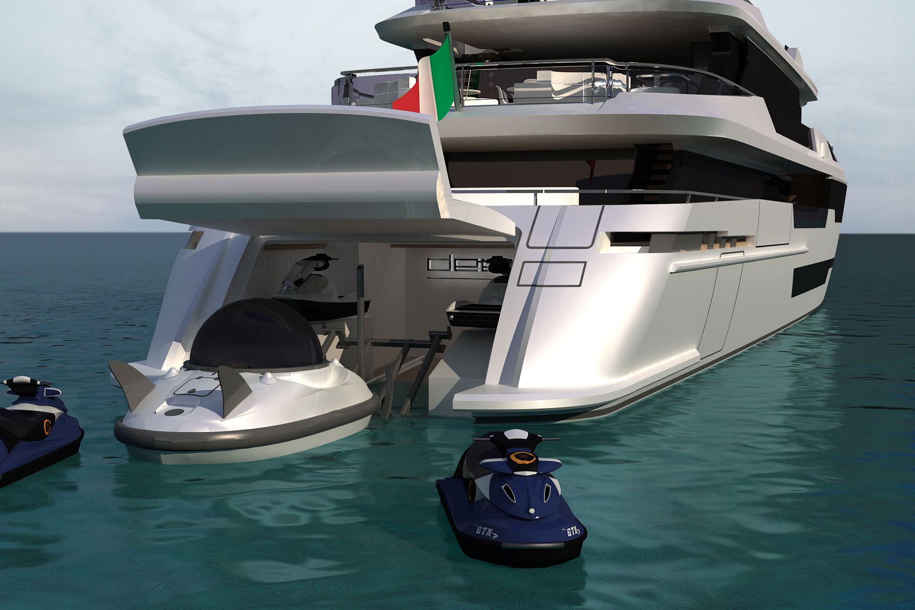 Deep 51 Yacht Project And Her Water Toys Image Courtesy