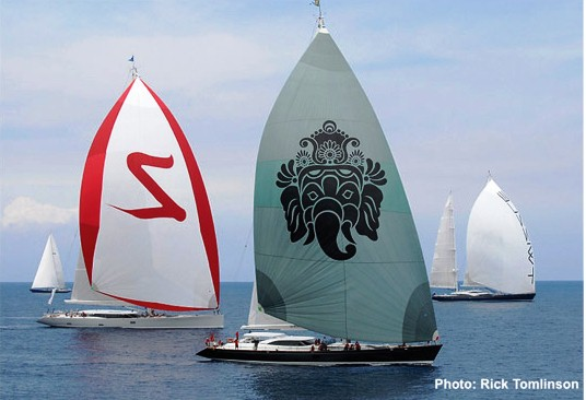 Dubois-Cup 2011 - Image by Rick Tomlinson - Yachts Ganesha Zefira and Twizzle finishing the race